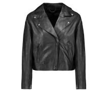 Leather Biker Jacket Schwarz
