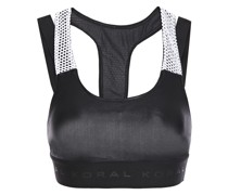 Forte Cutout Mesh-trimmed Stretch Sports Bra