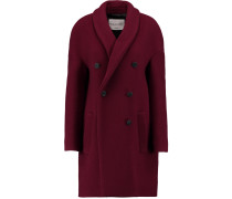 Woven Wool-blend Coat Burgunder