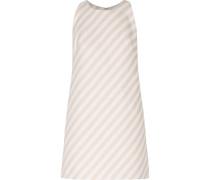 Striped Cotton-blend Faille Mini Dress Creme