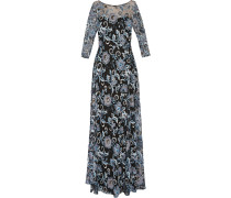 Embellished Tulle Gown Schwarz