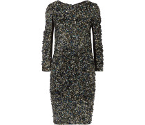 Sequined Stretch-jersey Mini Dress Silber