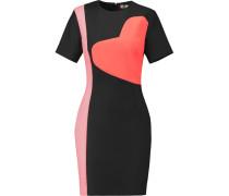 Color-block Twill Mini Dress Schwarz