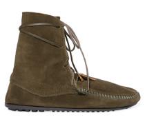 X Minnetonka Suede Lace-up Boots Armeegrün