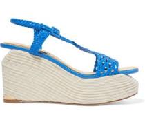 Lauren braided leather wedge sandals