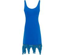Macramé-trimmed Crepe Dress