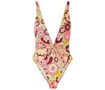 Rylee Badeanzug mit Floralem Print und Twist-detail An Der Vorderseite