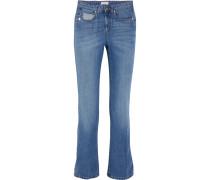Mid-rise Straight-leg Jeans Mittelblauer Denim