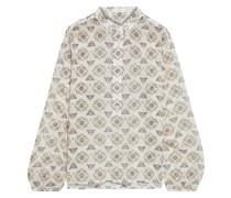 Meghan Bedruckte Bluse aus Voile aus Einer Baumwoll-seidenmischung