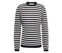 Metallic Striped Wool-blend Sweater