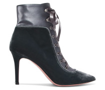 85 Velvet And Satin Ankle Boots