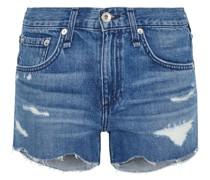 Cate Distressed Denim Shorts
