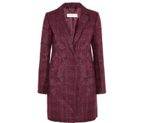 Patsy Embroidered Bouclé-tweed Coat Plaume