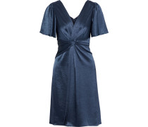 Silvana Twist-front Satin Dress
