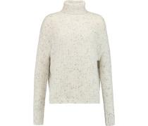 Fernwood Wool-blend Turtleneck Sweater Weiß