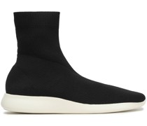 Abbot Stretch-knit High-top Sneakers