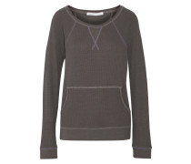 Stretch Cotton And Modal-blend Sweater Anthrazit