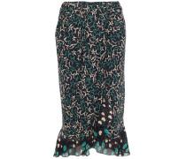 Pleated Printed Georgette Skirt