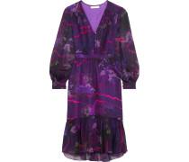 Printed Silk-chiffon Dress Lila