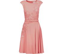 Embellished Embroidered Stretch-ponte Dress Altrosa