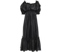 Tara Gathered Ruffled Taffeta Maxi Dress