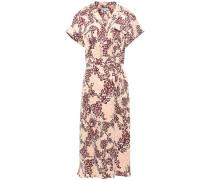 Printed Silk-blend Cady Midi Shirt Dress