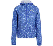 Shield printed shell hooded jacket