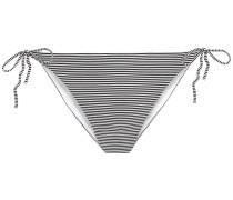 Kate Striped Ribbed Low-rise Bikini Briefs
