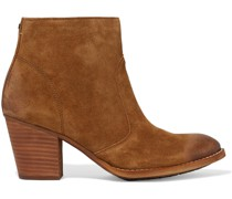 Mari Distressed Suede Ankle Boots