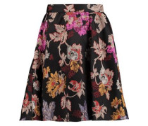 Earla pleated jacquard mini skirt