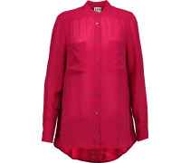 Crepe Blouse Red
