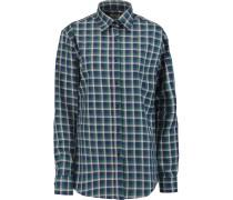 Plaid Cotton Shirt Blau