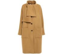 Paneled Wool-blend Felt Coat Camel