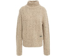 Donegal Cable-knit Wool Turtleneck Sweater