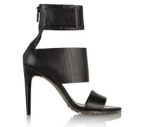Evie perforated matte-leather sandals