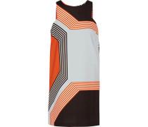 Printed Cady Mini Dress Tomatenrot
