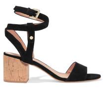 Rina Suede Sandals Schwarz