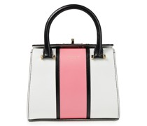 Villa Tote Bag aus Leder in Colour-block-optik