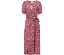 Noemi Midi-wickelkleid aus Krepon mit Print