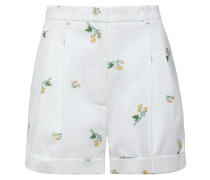 Max Pleated Floral-print Cotton-blend Twill Shorts