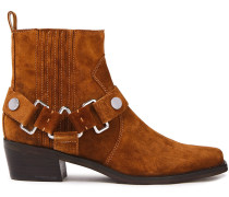 Woman Mina Suede Ankle Boots Light Brown