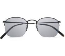 Square-frame Gold-tone Sunglasses Black Size --