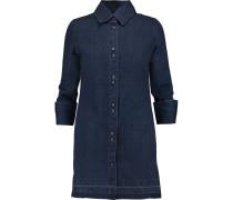 Bacall Denim Mini Shirt Dress Dunkler Denim