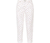 The Fling floral-print mid-rise slim boyfriend jeans