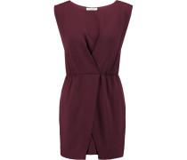 Wrap-effect Crepe Mini Dress Brombeere