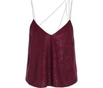 Crystal-embellished Lurex Camisole