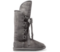 Bedouin Tall Lace-up Shearling Knee Boots Grau