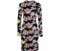 Floral-print Stretch-jersey Mini Dress Schwarz