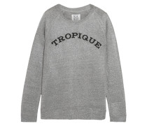 Tropique Metallic Knitted Sweater Silber