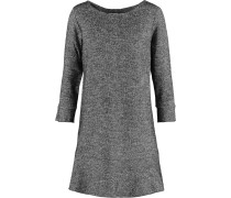 Houndstooth Cotton And Wool-blend Mini Dress Grau